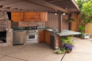konyha az udvaron
